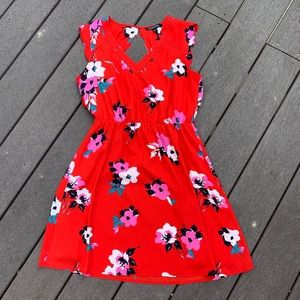 Red Midnight Scallop Detailed Dress